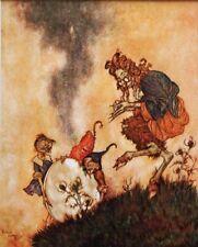 "Edmund DULAC vintage stampa montata, 12 x 10"", Fiaba Regina delle Nevi Goblin ED29"