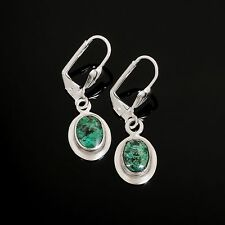 Solid sterling silver 925 earrings set natural Eilat stone ! Gift Jewelry & Love