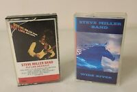 STEVE MILLER BAND - Wide River & Fly Like An Eagle - 2x Cassette Tape Lot - RARE