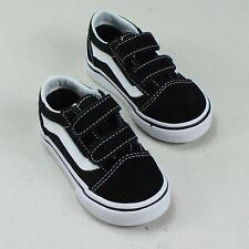cfd5cc111ab480 Vans Old Skool V Toddlers Infants Trainer Black White Size 4