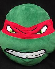 "Teenage Mutant Ninja Turtles Rapheal Face Throw Pillow Red Green Plush 14"" X 13"""