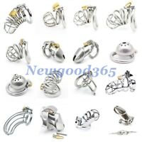 Male All Types Stainless Steel Chastity Belt Cage Lock Device Bondage Ring 3size