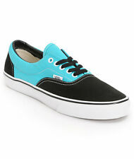 VANS Era (2 Tone) Black/Scuba Teal Men's Skate Shoes SIZE 11.5