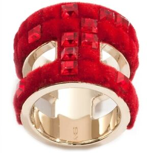 ATELIER SWAROVSKI by VIKTOR & ROLF Velvet Rock ring with red crystals 52