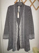 CHICO'S PIECED JACQUARD DUSTER JACKET NWT CHICOS 1 S/M