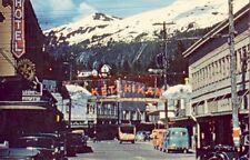 KETCHIKAN, ALASKA colorful view of MISSION STREET circa 1950