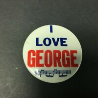 The Beatles I Love George Pin Back Button 2 Inches