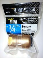 "Apollo ACPF34 3/4"" push fitting x 3/4"" Female Threaded Copper Adapter"