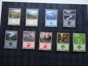 MTG - 9x EURO/APAC Lands  **9 Different Artworks Great Conditions All colours**