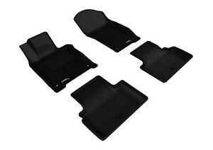 All Weather Floor Mat Set For 14-17 Infiniti Q50 Black Kagu