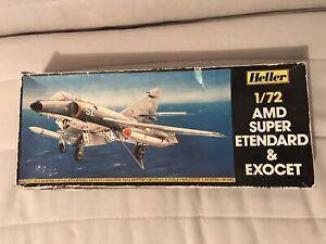 Maquette Avion Dassault Super Etendard Et Exocet 1/72 Neuf Heller
