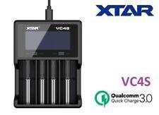 New XTAR VC4S QC 3.0 LCD 4 Bay Li-ion, Ni-MH USB Battery Charger