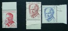 CZECHOSLOVAKIA: 2 SETS OF MNH STAMPS WITH PRECANCELS: 7 STAMPS IN TOTAL