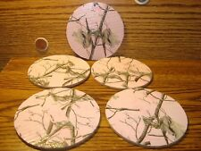 """#5 REALTREE APC DUCKTAPE design & Natural Cork Drink Coasters Placemats 3.5"""" in"""