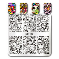 Nail Stamping Plates Square Nail Art Nicole Dairy Monkey Cat Plate Born Pretty