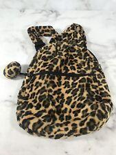 Fashion Mini Backpack Cheetah Animal Print Purse Bag Shoulder Soft