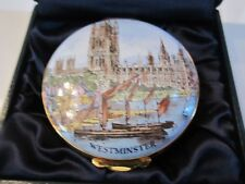 "CRUMMLES ENAMEL BOX ""THE PALACE OF WESTMINSTER"" -TRINKET BOX IN THE BOX - 2 1/4"""