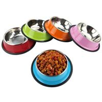 Stainless Steel Travel Feeding Pet Bowl Dog Cat Water Food Dish Puppy Feeder