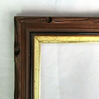 """Antique Fits 8"""" x 10"""" Eastlake Gold Gilt Carved  Picture Frame Country Victorian"""