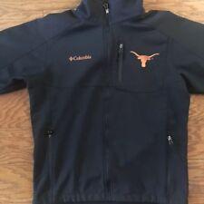 Men's Columbia Jacket Black UT Texas Longhorns Size M Fleece lined