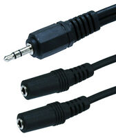 6 inch 3.5 mm Aux Cable Splitter 1 Male to 2 Female Stereo Audio Auxiliary Cable