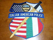 STATE OF OHIO ITALIAN AMERICAN POLICE PATCH  k-9  TACTICAL F EXTRA LARGE PATCH
