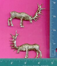 3 wholesale lead free pewter bull elk figurines G7066