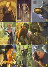 LORD OF THE RINGS FELLOWSHIP RING 2001 RETAIL PUZZLE STICKER INSERT SET 1 TO 10