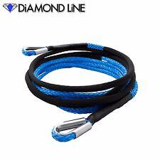 "3/8"" x 25' Diamond Extension Synthetic Rope Jeep Winch Thimble CUSTOM SPLICE"