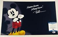 "BRET IWAN ""MICKEY MOUSE"" SIGNED METALLIC 11X17 PHOTO DISNEY BECKETT BAS COA 137"