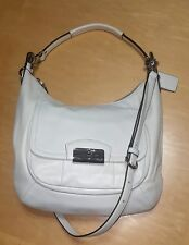 Coach F22306 Leather Kristin White Hobo Shoulder Crossbody Bag Purse