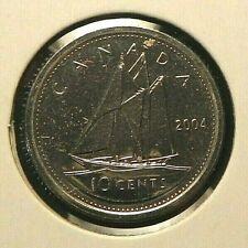 2004 UNC PL Proof Like Canadian Canada Dime 10 Ten Cent Bluenose Elizabeth II