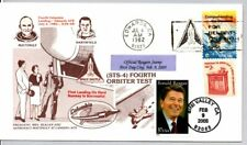 SPACE SHUTTLE COLUMBIA LANDING 7/4/82, PRESIDENT RONALD REAGAN STAMP FIRST DAY