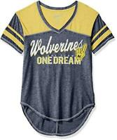 Michigan Wolverines Juniors Vintage Short Sleeve Football Tee New With Tags!!!!!