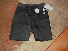 NWT Ladies Size 4P LEE Black Bermuda Relaxed Fit Shorts $44