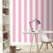 Rasch Pink and White Wide Stripe Wallpaper 286908
