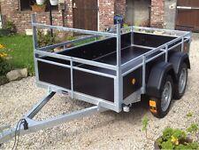 remorque double essieux PTAC 750 kg dimensions exterieur 263 x 133