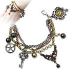 SteamPunk Cosplay Gothic Victorian Mrs. Hudson's Cellar Keys Pewter Bracelet NEW