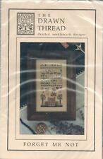 FORGET ME NOT by DRAWN THREAD Cross Stitch Pattern with Silk Skeins