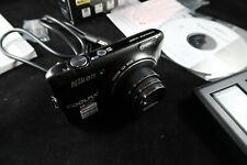 BLACK NIKON COOLPIX S6400 16MP 12x zoom digital camera - in box FREE SHIP