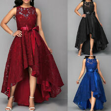 Plus Size Womens Sleeveless Lace Dress Cocktail Boll Gown Evening Party Wedding