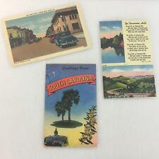 3 Vintage Post Cards Asheville Post Card Co. Unused Unposted SC, TN, VA