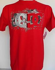 DC SHOES co. GRAPHIC T-SHIRT NEW Red TRACK DC LOGO 100% Cotton