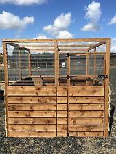 Outdoor Animal Run Half Board Half Mesh 16G Cat Dog Rabbit Chicken Enclosure