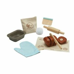 Plan Toys Wooden Bread Loaf Set 3625 pretend Play Food