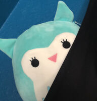"NWT Squishmallows Kellytoy 8"" WINSTON Owl Teal Blue Turquoise Plush"