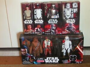 STAR WARS The Force Awakens 10 Piece Action Figure Character COLLECTION Boxed