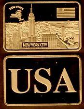 ★★★★★ JOLI LINGOT PLAQUE BRONZE ● USA ● NEW YORK ★★★★