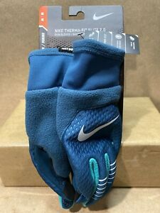 Nike Women's Therma-Fit Elite 2.0 Run Gloves NRGE1-472 Medium Turquoise B75