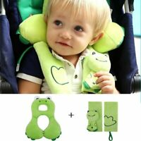 Baby Toddler Head Neck Support Headrest and Safety Belt Cover Strap for Car Seat